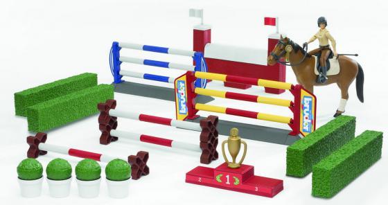 Набор фигурок Bruder для скачек с фигурой всадницы и лошадью