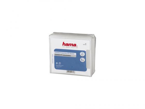 Коробка HAMA для 1 DVD полипропилен прозрачный 75шт H-11716 hama h 86043 1