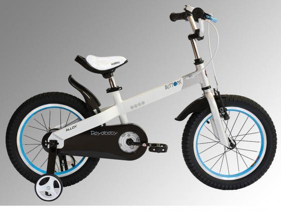 """Велосипед двухколёсный Royal baby Buttons Alloy 12"""" белый RB12-16"""