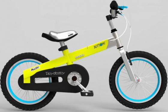 """Велосипед двухколёсный Royal baby Alloy Buttons Diy 14"""" желтый"""