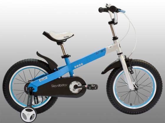 """Велосипед двухколёсный Royal baby Alloy Buttons Diy 14"""" синий RB14-16"""