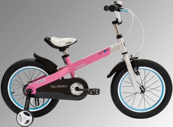 """Велосипед двухколёсный Royal baby Alloy Buttons Diy 16"""" розовый"""