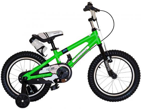 """Велосипед двухколёсный Royal baby Freestyle 14"""" зеленый RB14B-7"""