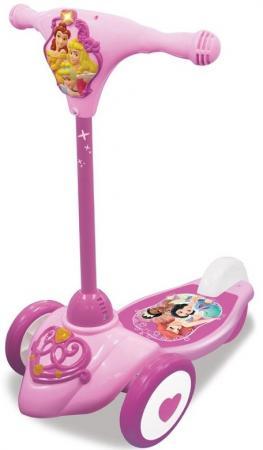 Самокат трехколёсный Kiddieland Принцесса розовый kiddieland набор музыкальных инструментов kiddieland