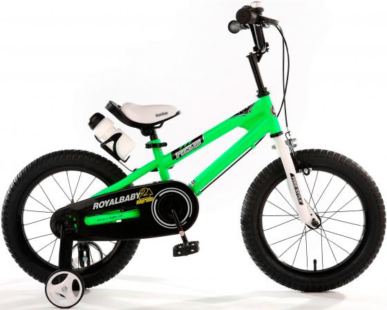 "Велосипед двухколёсный Royal baby Freestyle Steel 16"" зеленый RB16B-6"