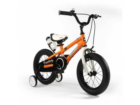 Велосипед двухколёсный Royal baby Freestyle Steel оранжевый RB18B-6 велосипед royal baby freestyle steel синий rb18b 6