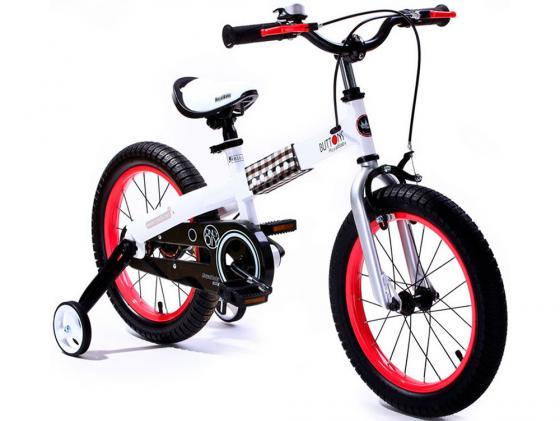 Велосипед двухколёсный Royal baby Steel Buttons White Frame 12 дюймов красный