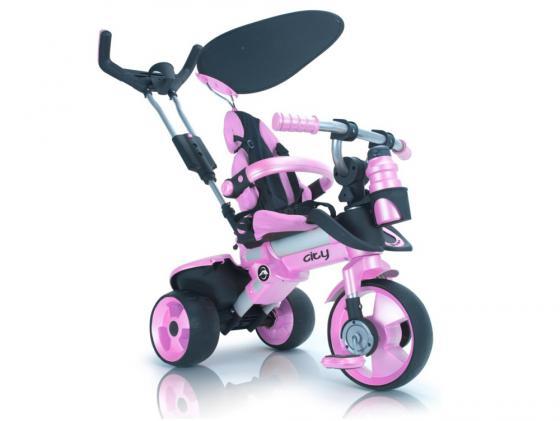 Велосипед трехколёсный Injusa City Trike Aluminium розовый 3262/002 велосипед r toys galaxy лучик vivat 10 8 красный трехколёсный