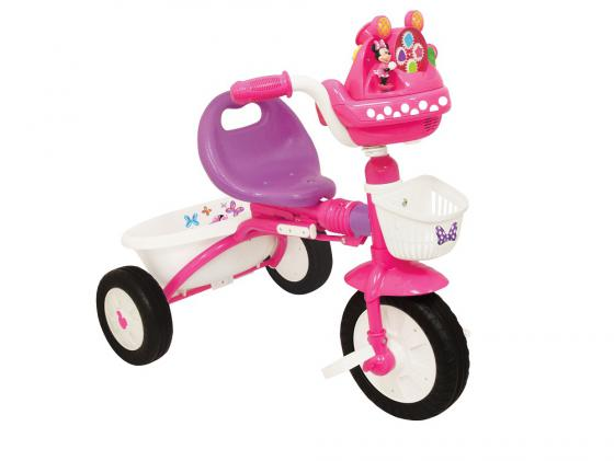 Велосипед трехколёсный Kiddieland Минни Маус складной розовый KID 047423 трехколесные велосипеды kiddieland складной минни маус