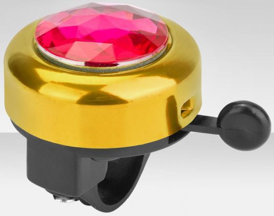 Звонок RichToys с алмазом 45AZ-02-3 черно-золотистый звонок для самокатов и велосипедов 45az 02 3 с алмазом алюминий чёрно золотистый