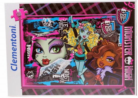 Пазл 500 элементов Monster High Чудовищные друзья 30120 цена 2017