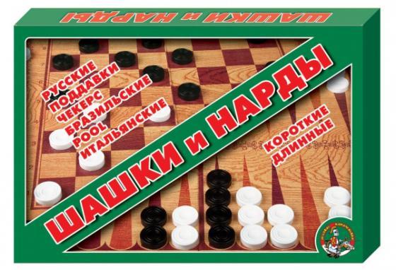 Настольная игра семейная Десятое королевство Шашки - нарды 01069 настольная игра десятое королевство 00105 шашки шашки малые