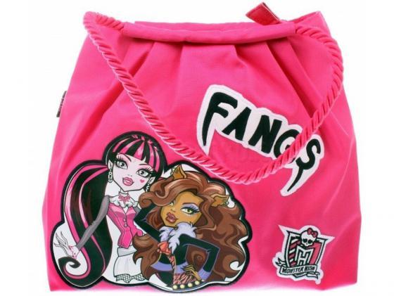 Сумка Monster High Fangs 1361 розовый рисунок the angel wore fangs