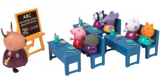 Игровой набор Peppa Pig Идем в школу 10 предметов 20827 peppa pig велосипед 1toy peppa 3 хкол пласт кол 10 8 132452