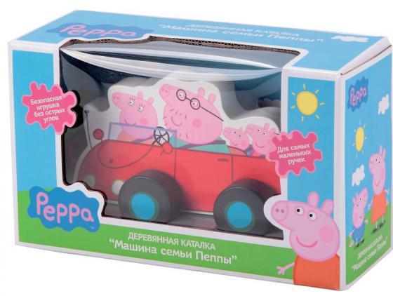 Каталка-машинка Peppa Pig семья Пеппы дерево от 1 года 24442 всё для лепки свинка пеппа peppa pig набор для лепки на даче у пеппы