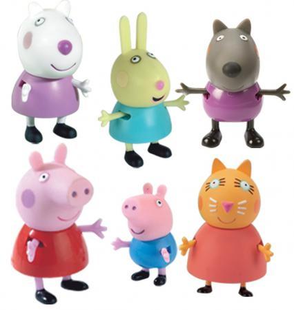 Игровой набор Peppa Pig Пеппа и друзья 6 предметов 24312 peppa pig игровой набор пеппа и друзья 24312 6 фигурок