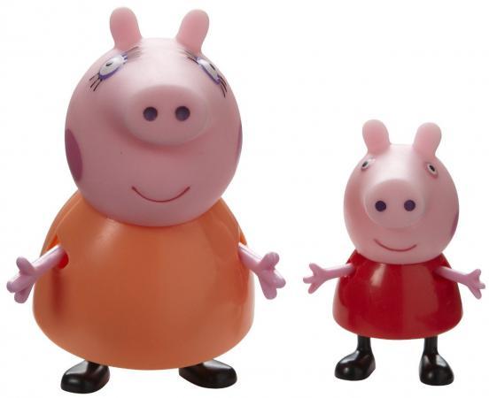 Игровой набор Peppa Pig Семья Пеппы Мама Свинка и Пеппа 2 предмета 20837 игровой набор росмэн 20837 семья пеппы