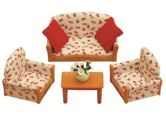 Игровой набор Sylvanian Families Мягкая мебель для гостиной 7 предметов 2922 мягкая мебель