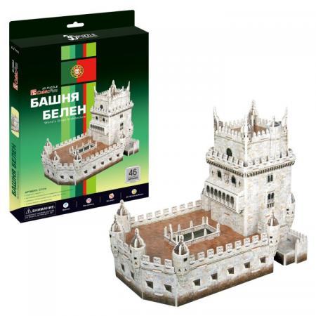 Пазл 3D 46 элементов CubicFun Башня Белен (Португалия) конструкторы cubicfun 3d пазл эйфелева башня 2 франция