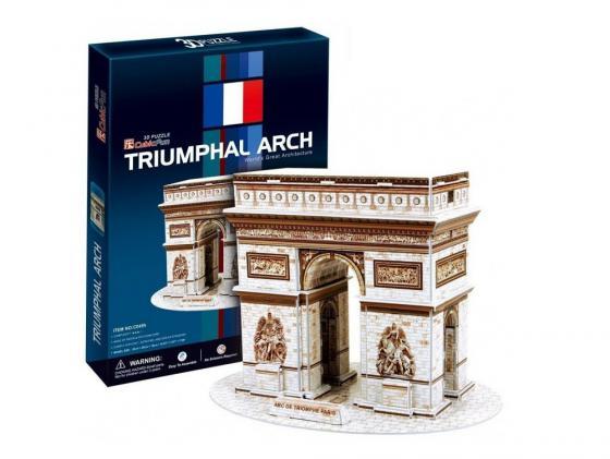 Пазл 3D 26 элементов CubicFun Триумфальная арка (Франция) C045H конструкторы cubicfun 3d пазл эйфелева башня 2 франция