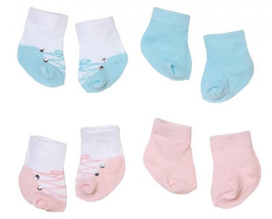 Носочки для кукол Zapf Creation Baby Annabell 2 пары 92285 в ассортименте носочки и колготки для куклы 46см в ассортименте our generation