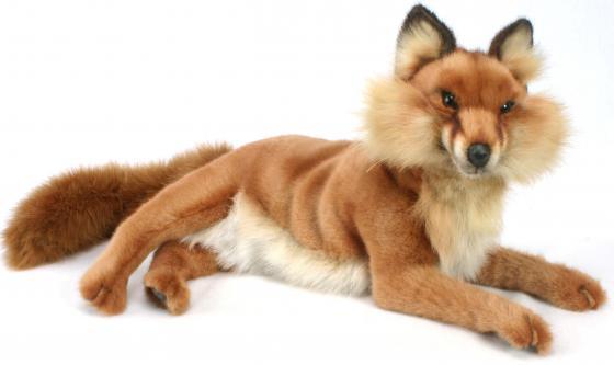 Мягкая игрушка лисица Hansa Лиса лежащая 45 см коричневый плюш 4765 hansa мягкая игрушка лиса