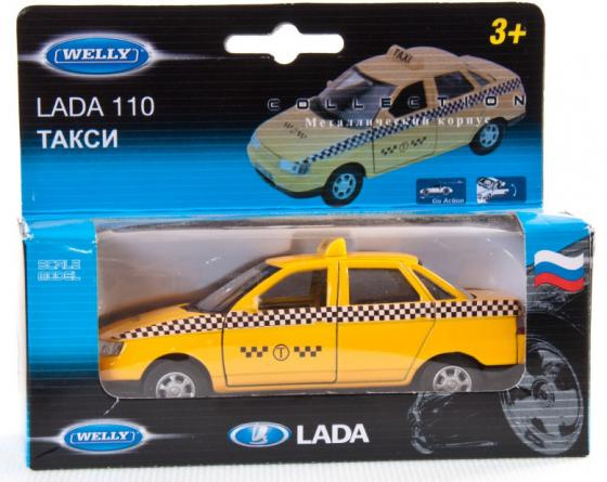 Автомобиль Welly LADA 110 Такси 1:34-39 желтый welly lada 2108 1 34 39