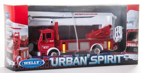 Пожарная машина Welly 99623 1:60 красный welly welly набор служба спасения пожарная команда 4 штуки
