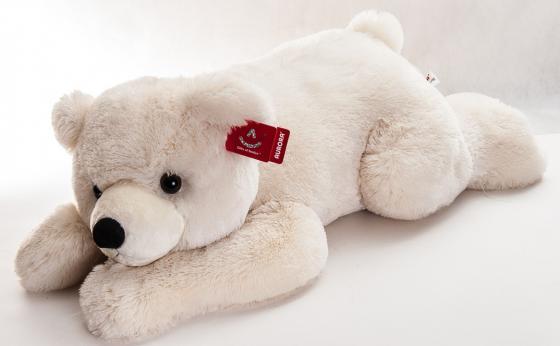 Мягкая игрушка медведь AURORA Медведь 70 см белый синтепон magic bear toys мягкая игрушка медведь с заплатками в шарфе цвет коричневый 120 см