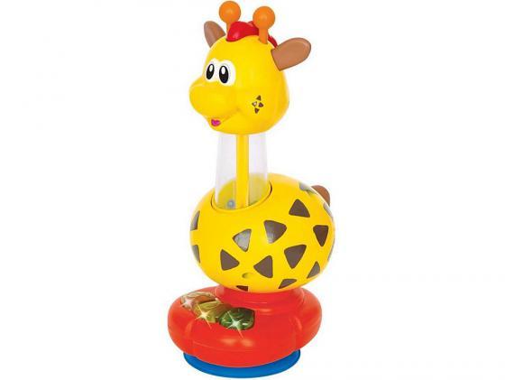 Интерактивная игрушка Kiddieland Жираф до 1 года жёлтый 29900 музыкальные инструменты kiddieland игрушка развивающая жираф