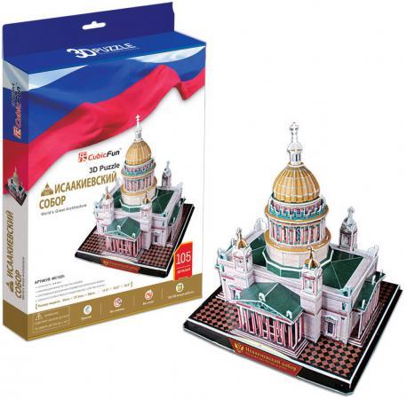 Пазл 3D 105 элементов CubicFun Исаакиевский собор (Россия) MC122H cubicfun петропавловский собор