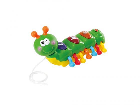Каталка на шнурке Playgo Гусеница пластик от 1 года музыкальная зеленый каталка на шнурке brio вертолёт дерево от 1 года зеленый