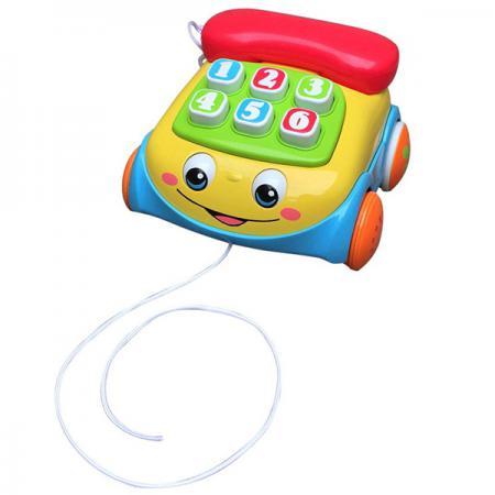 Каталка на шнурке Playgo Телефон пластик от 1 года музыкальная разноцветный 11560 feron