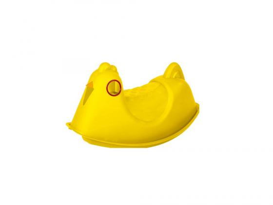 где купить Качалка Paradiso Курица пластик от 1 года н/д желтый T00280 дешево