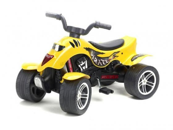 Квадроцикл педальный Falk Pirate (84 см., желтый) каталка квадроцикл falk принцесса лиловый от 3 лет пластик fal608