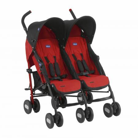 Коляска-трость для для двоих детей Chicco Echo Twin Stroller (garnet) коляски трости chicco echo