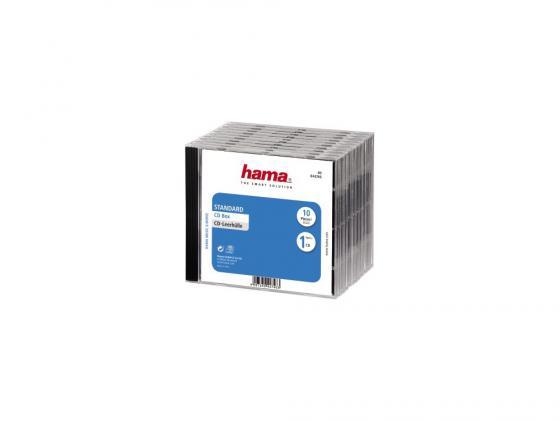 Коробка HAMA для 1 CD черно-прозрачный 10шт H-44746 коробка hama для 2 cd прозрачный 5шт h 44752