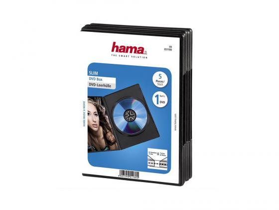 Коробка HAMA для DVD черный 5шт H-51180 hama h 108727 для 10 46 черный