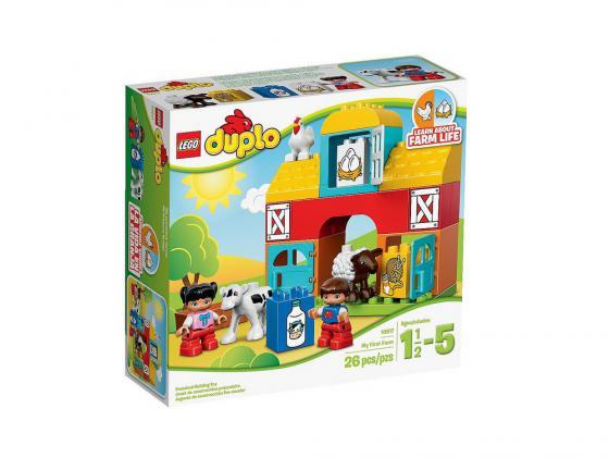 Конструктор LEGO Duplo Моя первая ферма 26 элементов 10617 lego duplo конструктор моя первая ферма