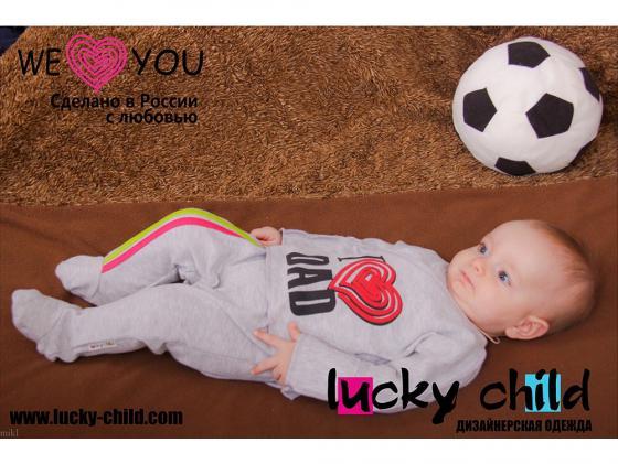 Ползунки Lucky Child с лампасами, для девочки, размер 24 (74-80) 1-4Д курточка с лампасами lucky child для девочки размер 22 68 74
