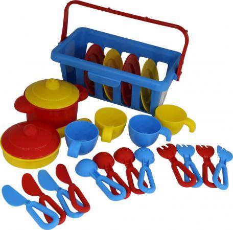 Набор посуды Полесье TOP chef с корзинкой №2 на 4 персоны 42651 игра полесьенабор детской посуды top chef с корзинкой 42637