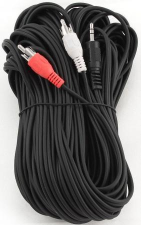 Кабель соединительный 10м Gembird 3.5 Jack (M) - 2xRCA (M) стерео аудио CCA-458-10M цена и фото