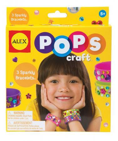 Набор для творчества Alex Создай 3 блестящих браслета со стразами 1292 alex alex набор для творчества плетение браслетов фенечек неоновое сияние
