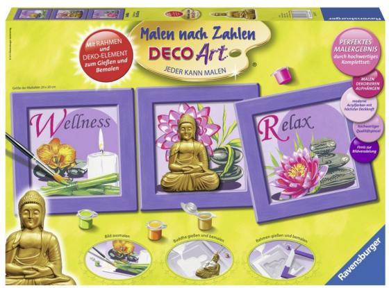 Набор для рисования Ravensburger Раскрашивание по номерам Будда от 10 лет 28970