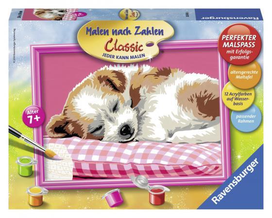 Набор для рисования Ravensburger Спящий щенок от 7 лет наборы для рисования ravensburger набор для рисования гармония