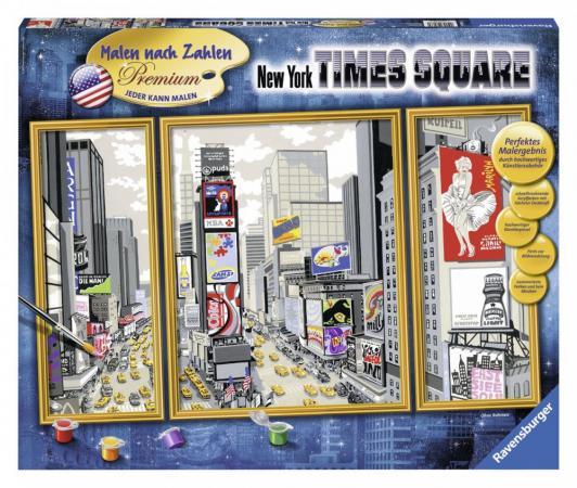 Набор для рисования Ravensburger Раскрашивание по номерам Таймс-сквер от 10 лет 28966 наборы для рисования ravensburger набор для рисования гармония