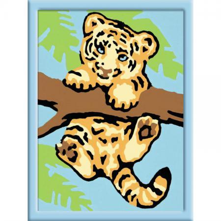 Набор для творчества Ravensburger Раскрашивание по номерам: Тигренок от 7 лет ravensburger ravensburger раскрашивание по номерам тигренок