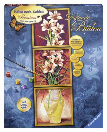 Набор для рисования Ravensburger Раскрашивание по номерам: Цветы от 12 лет наборы для рисования ravensburger набор для рисования раскрашивание по номерам дикие лошади