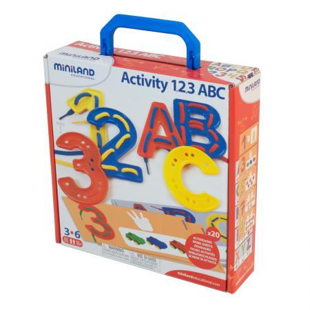 Набор шнуровок Miniland Буквы и цифры 31867 miniland магнитная игра портреты