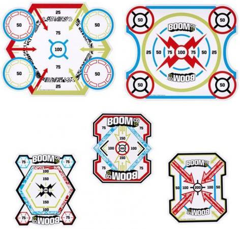 Набор мишеней Mattel Boomco, 5 шт для мальчика разноцветный Y8624 набор дротиков boomco y8621 для мальчика голубой